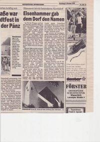 Zeitung: Ein Eisenhammer gab dem Dorf den Namen.