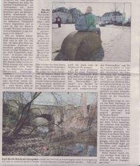 Zeitung: Altes Wehr wurde zum Steinbruch.