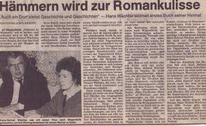 """Helmut Wächter schreibt Buch """"Ein Dorf wie Hämmern""""."""