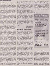 Zeitung: Null Industriekultur.